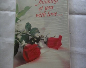 Thinking of you with love Greetings Card New Package Valentines Day