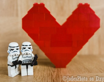 Star Wars™ LEGO® Stormtrooper 'Together' Photograph Print 7x5, 8x10 or 20x16 Wall Art Home Decor