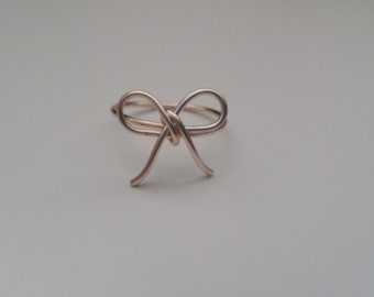 Rose Gold Bow Tie Ring