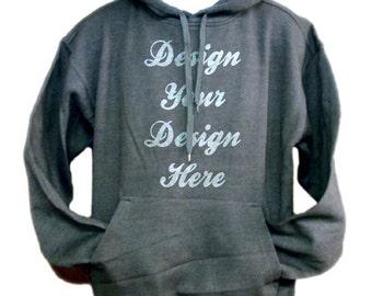 Custom Pullover Hoody, Choose 1 or 2 design colors : )