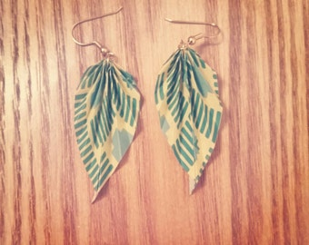 Marqué Origami Leaf Earrings - small