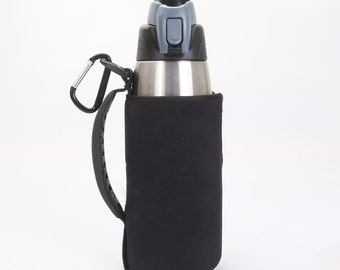 Adjustable Insulated Neoprene Water Bottle Sleeve With 24 Ounce Thermos, Bottle Cozy