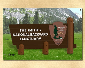 Personalized National Park Metal Sign  (999-00028)