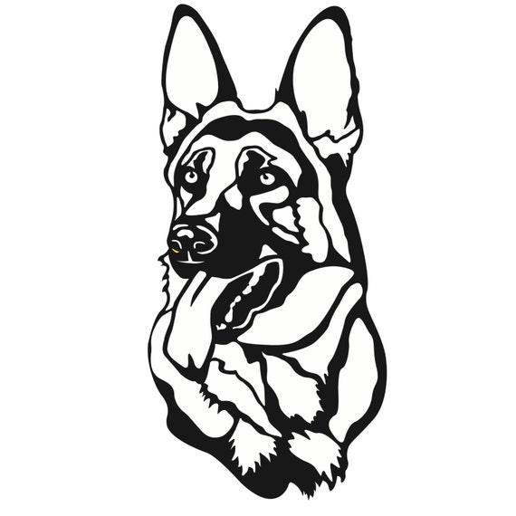 dxfdatei von einem deutschen schäferhund für die verwendung