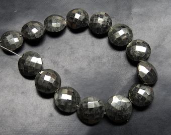 Payorite  Gemstone  Beads  Shape Round Coine Faceted
