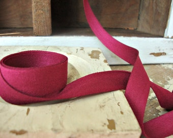Faux Suede Raspberry Ribbon