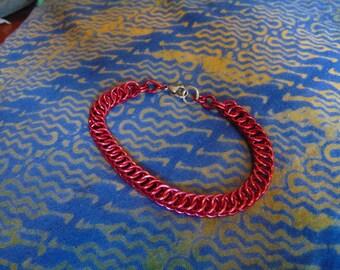 Half Persian 4 in 1 Bracelet in Red Aluminum