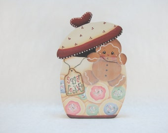 Sugar Cookies, Item #DPH70, Gingerbread Shelf Sitter and/or Magnet, ByBrendasHand, Gingerbread Decor, Gingerbread Kitchen, Sugar Cookies