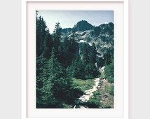 Mountain Art Print, Colorado Mountain Art, Mountain Trail, Forest Art, Nature Print, Printable Wall Art, Outdoors Artwork, Instant Download