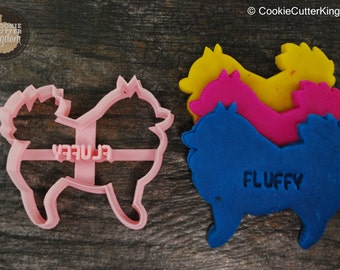 Custom Pomeranian Cookie Cutter Personalized for your Pet!