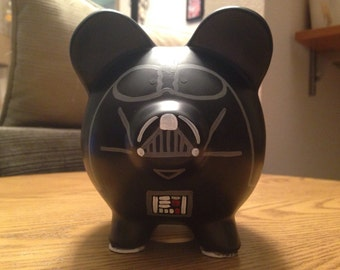 Star Wars Darth Vader Painted Ceramic Piggy Bank Medium