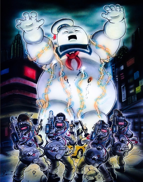 Ghostbusters Vs Stay Puft Marshmallow Man By