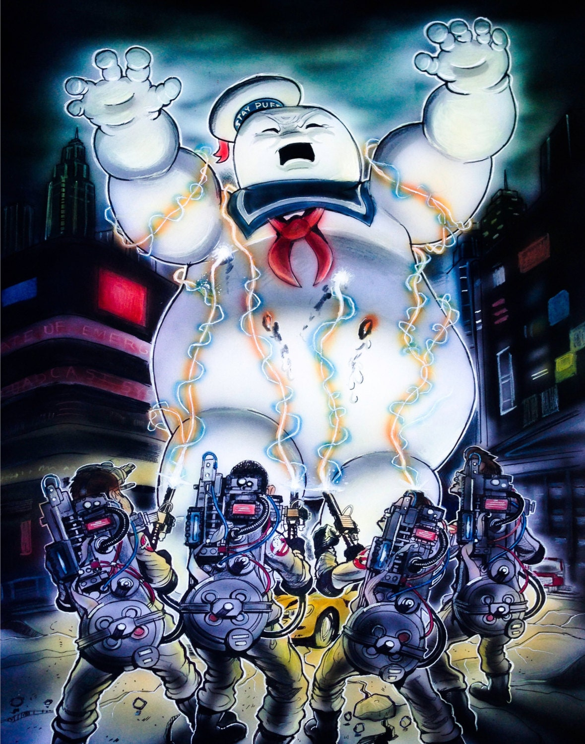 Watch the Stay Puft Marshmallow Man React Badly to New ... |Puft Marshmallow Man