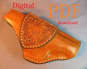 Makarov handgun holster. Pattern and full step-by-step instructions with photos.