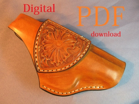 Zany image for printable leather holster patterns