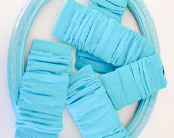 TEAL INFANT LEGWARMERS