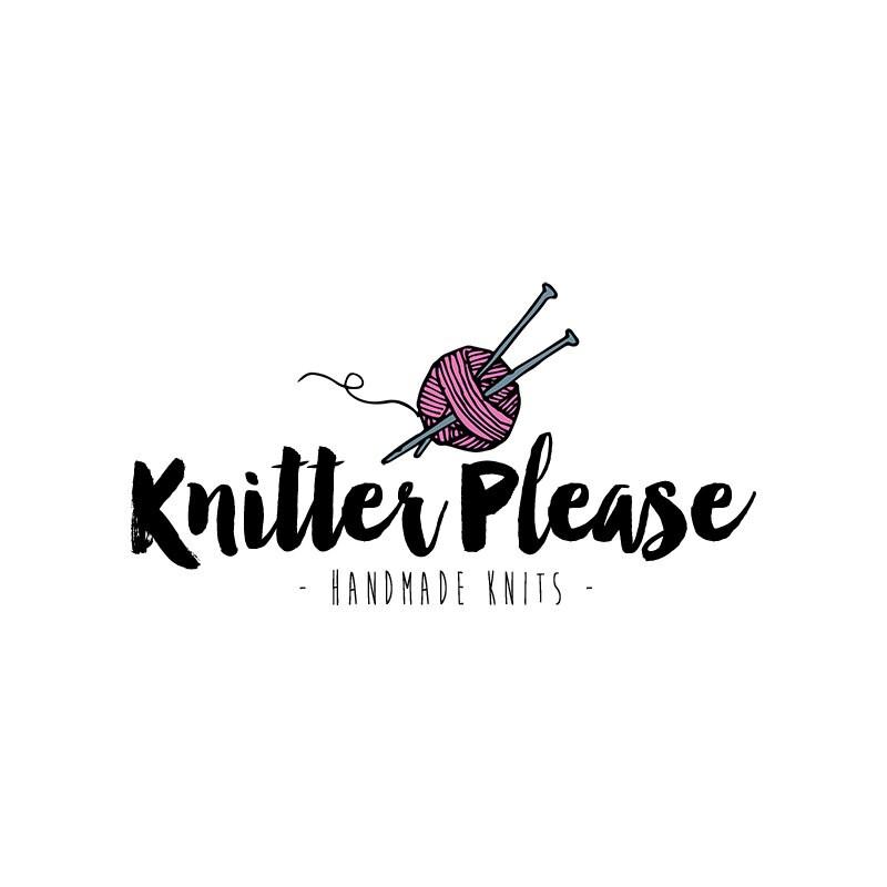 Knitting Logo Ideas : Knitter logo design knit yarn by quietforestdesign