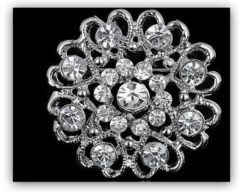 Beautiful Rhinestone Brooch, Wedding Pin, Wedding Brooch,
