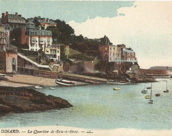 Dinard - Le Quartier de Bric a Brac, France,  Vintage 1918 Unused Postcard