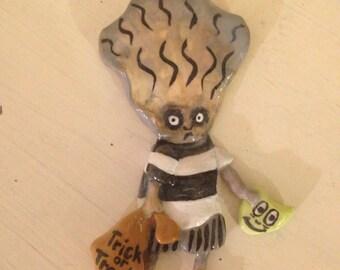 Tim Burton Inspired Oyster Boy Necklace