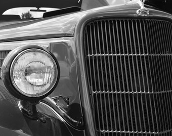 Classic Car Photography, Automobile Photography, 1933 Ford, Black and White Car Photography, Hot Rod, Ford Print