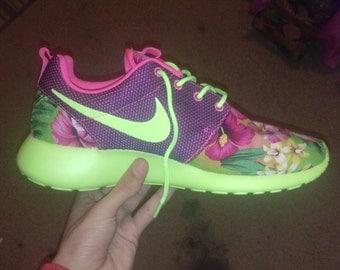 Nike Roshe Run tropical custom