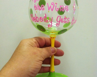 Funny wine glasses funny wine sayings hand over the wine wine gifts