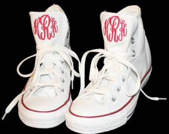 Monogrammed hightop or low converse shoes for women/men/children