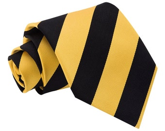 Striped Yellow & Black Tie