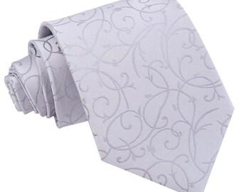 Swirl Silver Tie