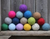your choice of three // felted wool dyer balls // eco-friendly laundry