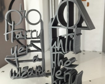 Harry Potter - 3D Printed Decorative Lightweight Bookends