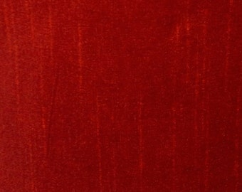 Red-12 Silk Dupioni Shantung Fabric 100% Polyester for Apparel Home Decor By the Yard