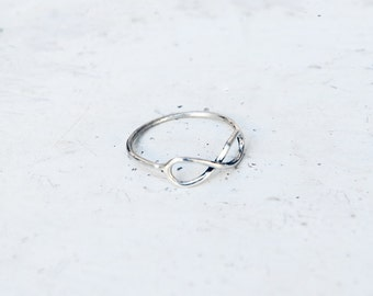 The silver infinity ring