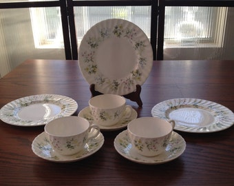 MINTON BONE CHINA Made in England, 9 pieces, Spring Valley
