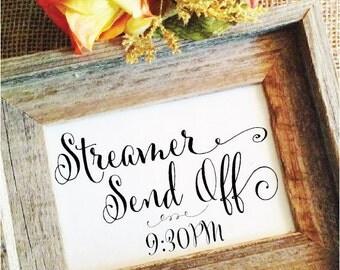 STREAMER sign Wedding Streamer Send Off (Stylish) (Frame NOT included)