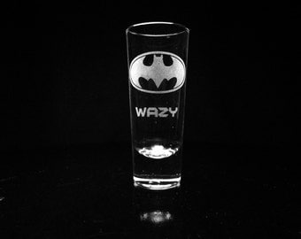 Batman Personalized Shot Glass- Custom Shot Glass