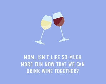 Mother's Wine Card | Funny Mother's Day Card