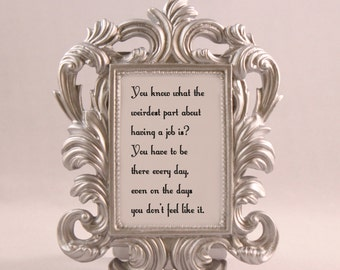 SILVER Framed Quote Jessa Quote GIRLS home decor gift dorm office desk decor humorous quote funny quote motivational inspirational job work