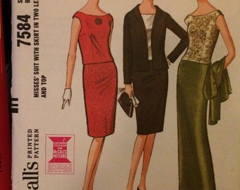 McCalls 7584 Misses' Suit with Skirt in Two Lengths