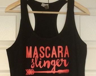 Mascara slinger, Younique razorback tank
