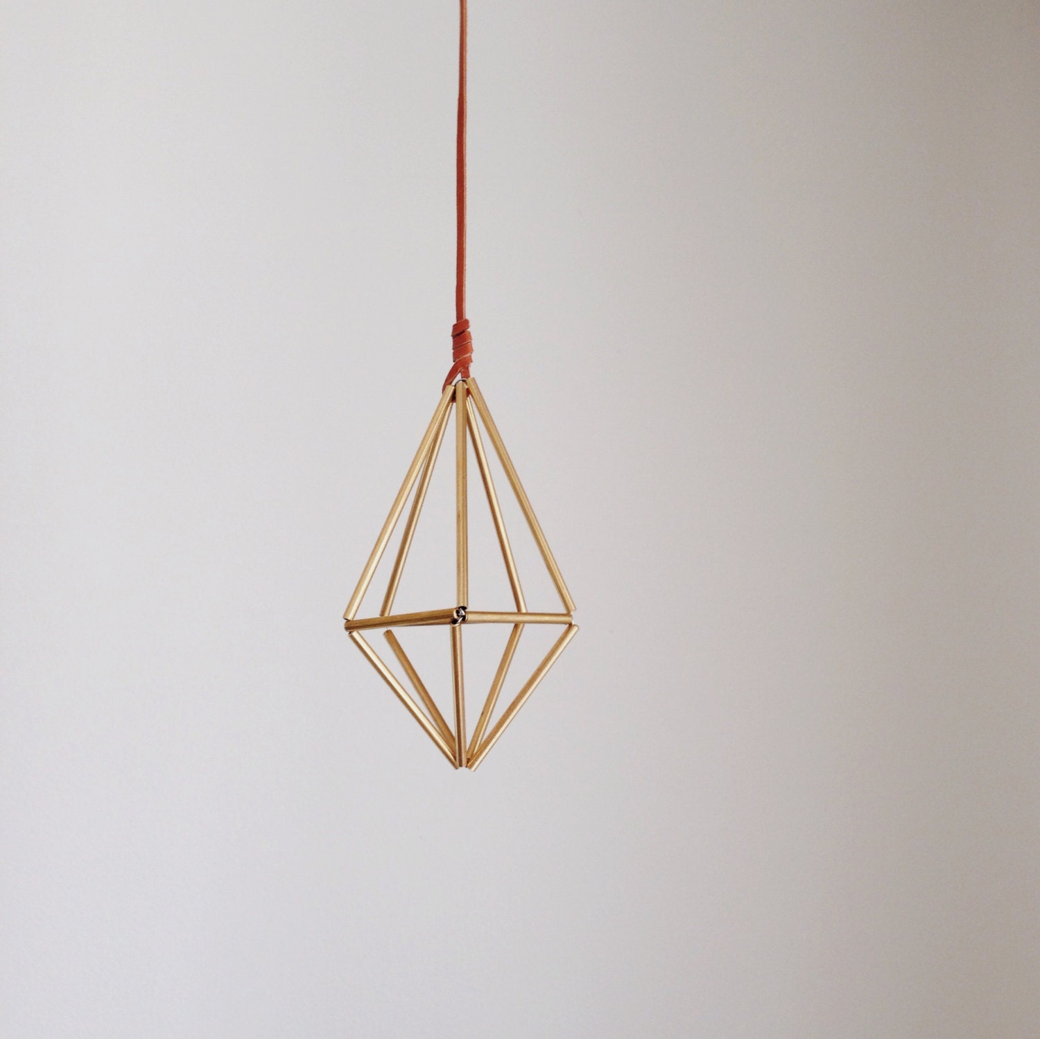 Himmeli hanging brass air plant holder minimalist home by for Geometric air plant holder