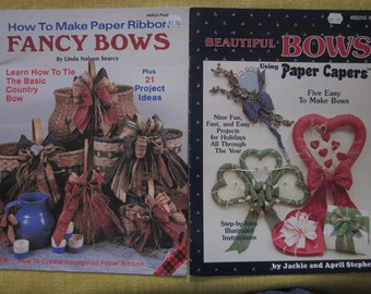 Beautiful Bows, Fancy Bows, How To Make Paper Ribbon Bows, twisted paper craft booklets,26 projects