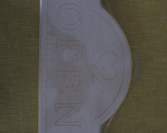"Open-Closed wood sign,plaque,Walnut Hollow Farm,12""x5 1/2"",folk art,tole painting"