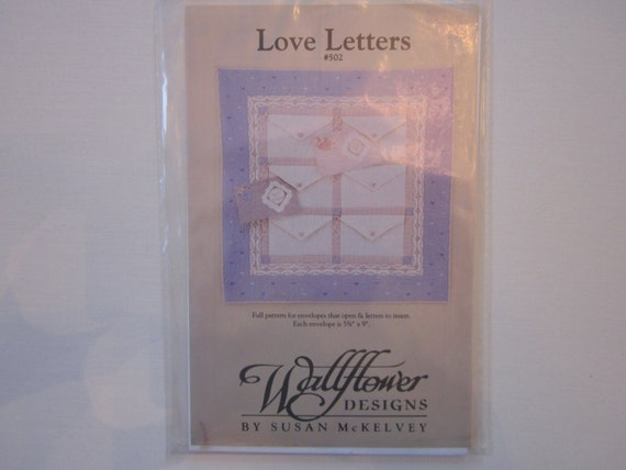Love Letters 502 Wallflowers Designs Quilt Pattern