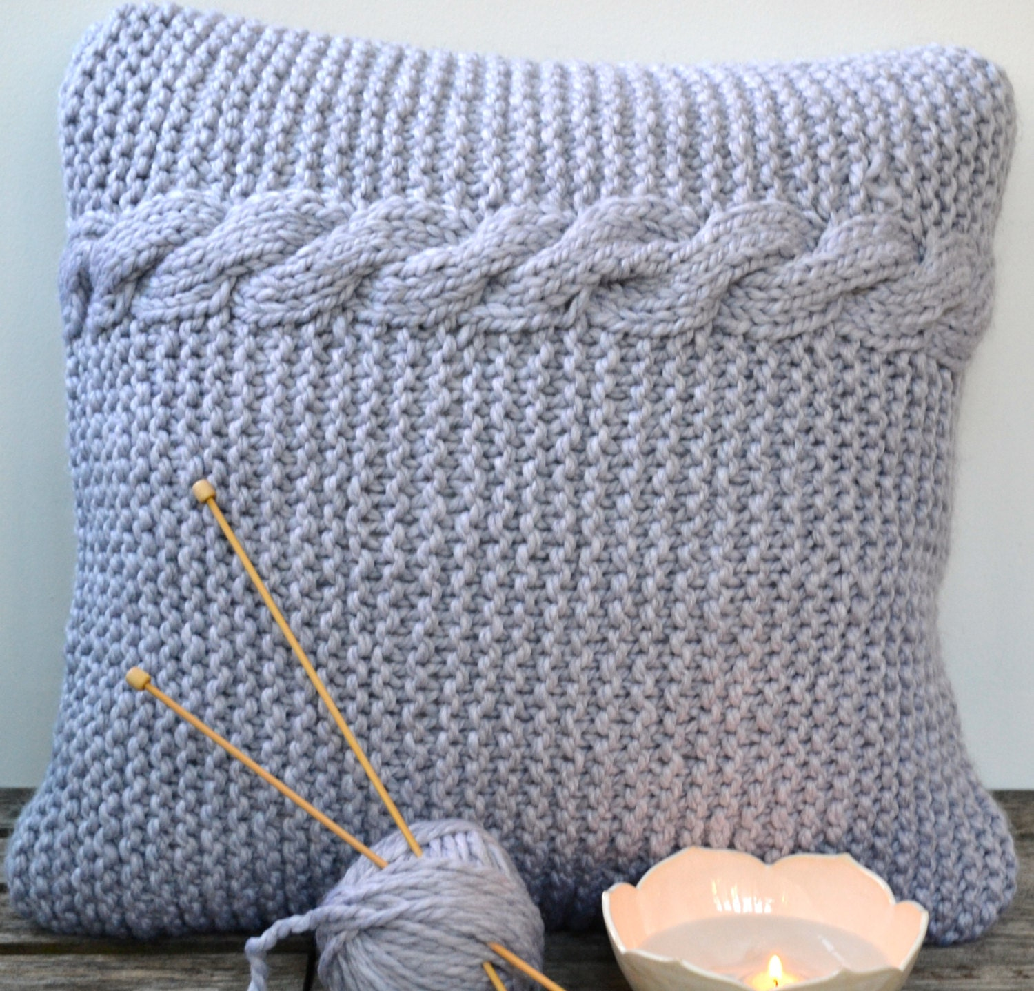 Knitting Pillow Pattern : Knitting pattern reversible pillow cover by pineconesandpurls