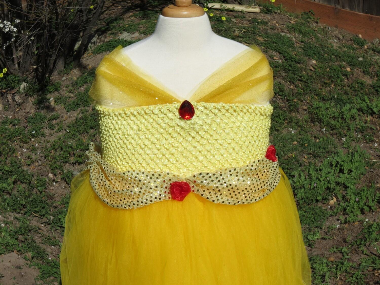 Princess Belle Tutu Dress Beauty And Beast Disney Princess Dress