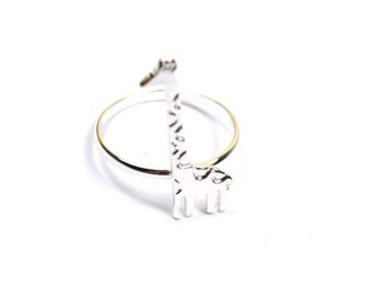 Silver Plated Giraffe Ring