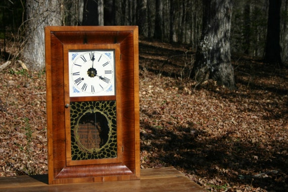 1870's E.N. Welch 30 Hour Ogee Case Clock. Working Antique