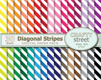 Stripe digital paper, Digital paper, Digital paper pack, INSTANT DOWNLOAD, Digital Scrapbooking, Scrapbook paper, Commercial Use, Stripes